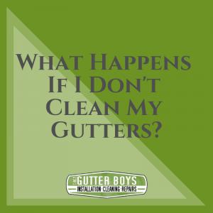 What Happens If I Don T Clean My Gutters Cincy Gutter Boys