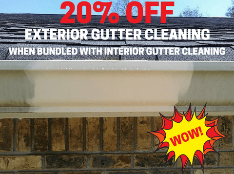 Twenty Percent Off Gutter Cleaning Bundle Mobile
