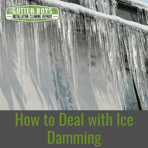 How To Deal With Ice Damming Cincy Gutter Boys