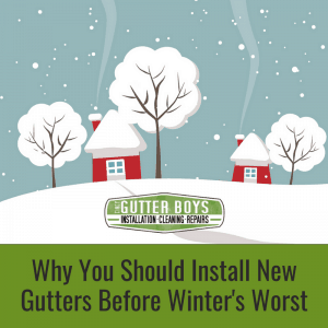 Why Install Gutters Before Winter